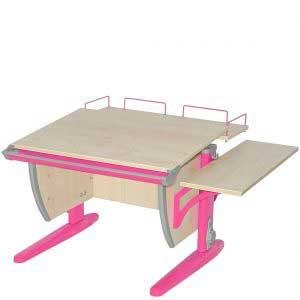 Парта ДЭМИ модель СУТ14-02 цвет: клен/розовый