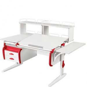 Парта трансформер ДЭМИ модель СУТ 25-05d2 цвет белый/красный