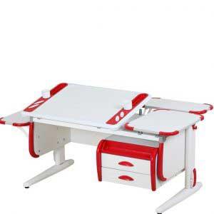 Парта трансформер ДЭМИ модель СУТ 31-05 цвет белый/красный