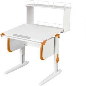 Парта трансформер ДЭМИ модель СУТ 24-01Д цвет белый/оранжевый