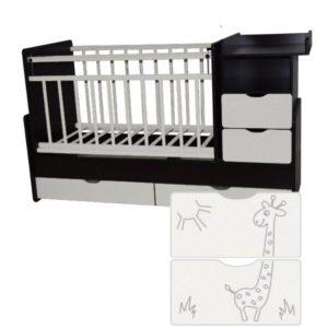 Кроватка трансформер Ульяна-5 с Жирафом