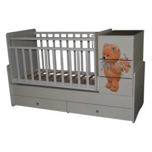 Кроватка трансформер Ульяна-2 Мишка